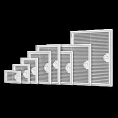Пластиковые накладные люки-дверцы  с решеткой Декофот