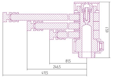Вешалка Сунержа Веер-ДВ  L 412 для водяных полотенцесушителей