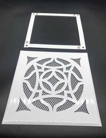 Решетка стальная на магнитах РП Восток-150 сетка, белая