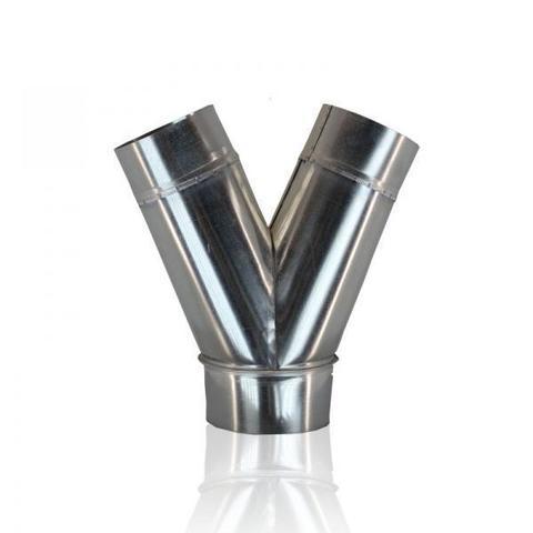 Тройник Y-образный (штаны) D 100 мм оцинкованная сталь