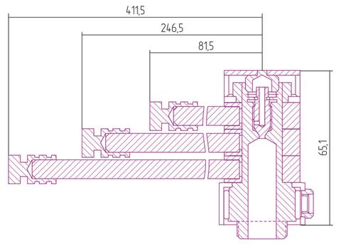 Вешалка Сунержа Веер-КВ L 412 для водяных полотенцесушителей
