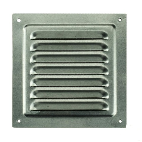 Решетка металлическая оцинкованная 125х125мм 1212МЦ