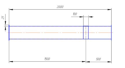 Воздуховод круглый 250 мм 2,0 м полипропилен