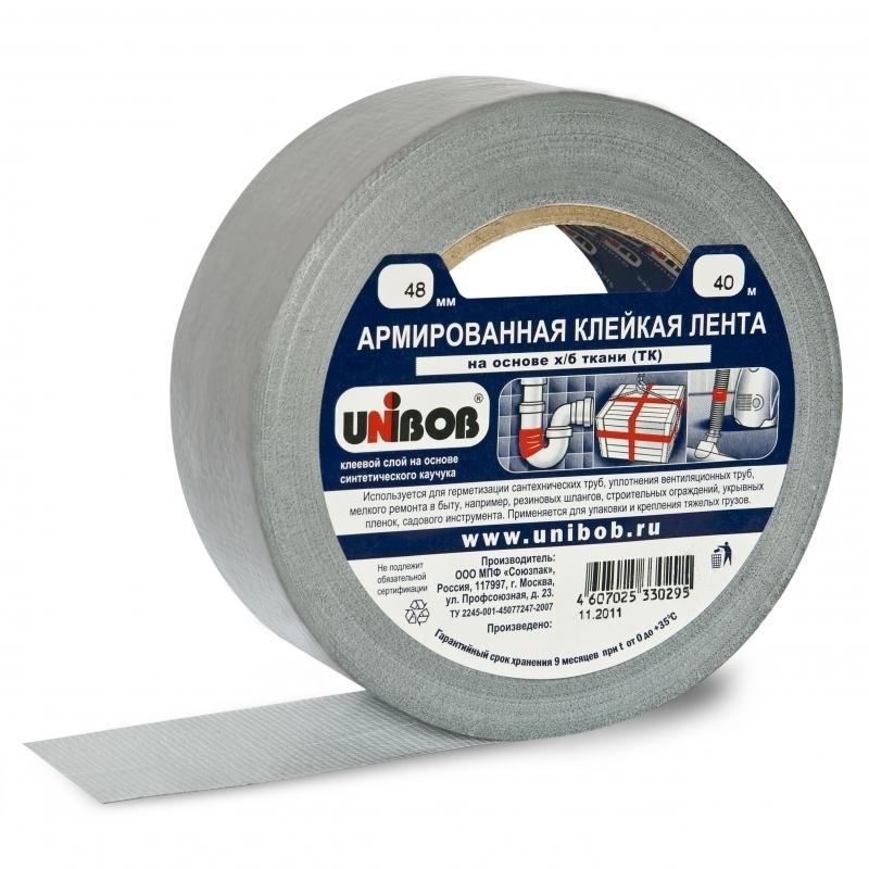 Клейкая лента (скотч), силикон, пена, уплотнитель, утеплитель Скотч армированный 48мм (40м) Unibob b4344cfb01eebad629b17571784979b6.jpg