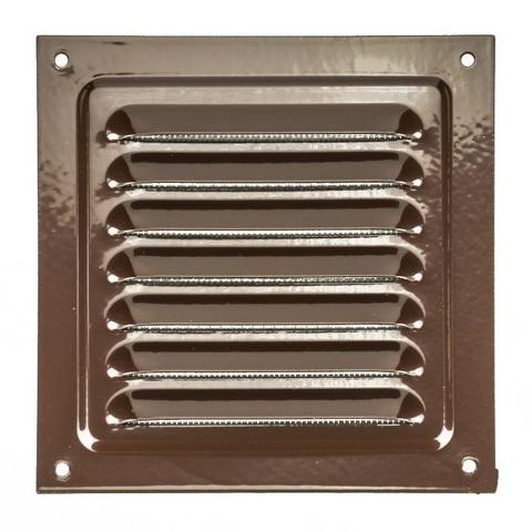 Решетка металлическая коричневая 125х125мм 1212МЭ