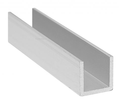 Алюминиевый швеллер 25x30х25х2,0 (3 метра)