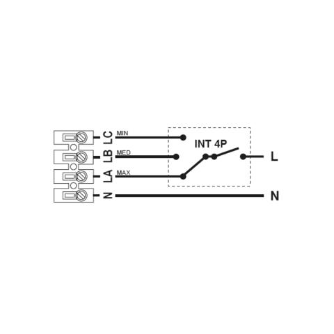 Регулятор скорости S&P Inter 4P (3-х ступенчатый)