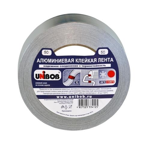 Скотч алюминиевый 50мм (40м) Unibob