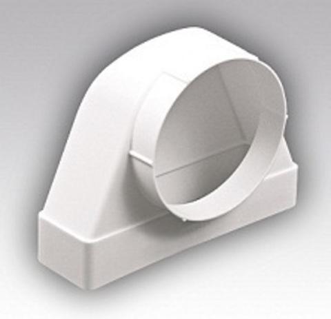 Соединитель угловой 220х55/125 ФП проходной пластиковый