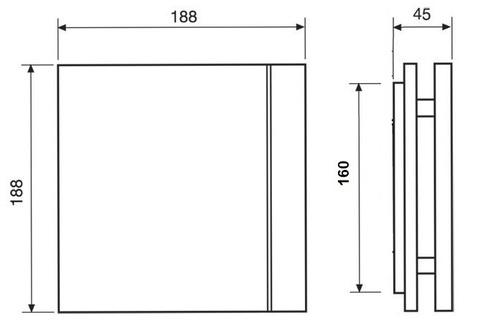 Лицевая панель для вентилятора S&P Silent 100 Design Ivory