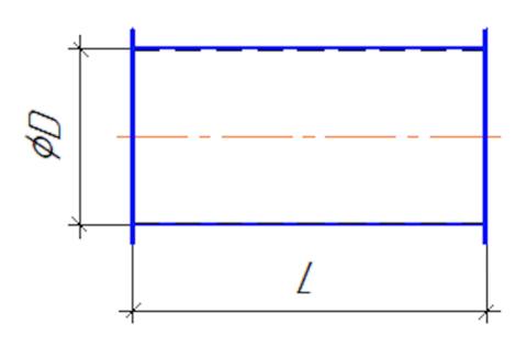 Воздуховод круглый 250 мм 1,0 м полипропилен