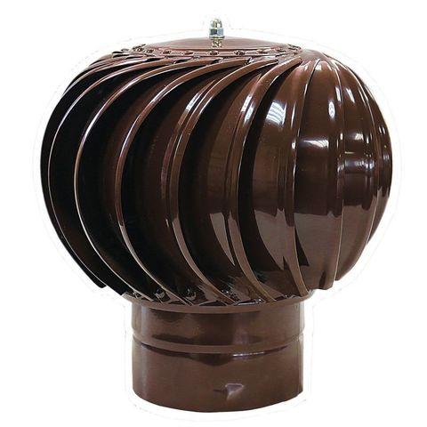 Турбодефлектор крышный ТД 125мм оцинкованный коричневый (RAL 8017)