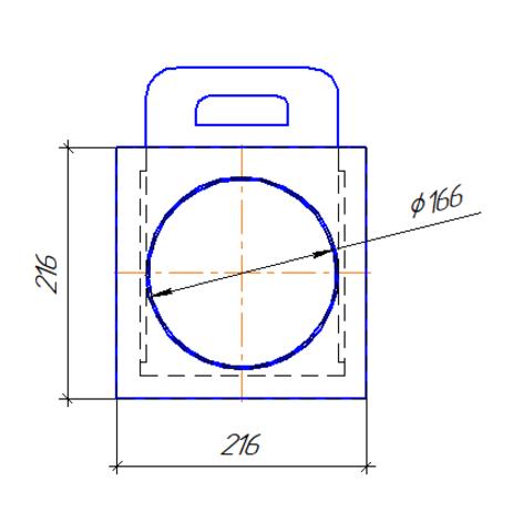 Шибер/задвижка D 160 мм полипропилен