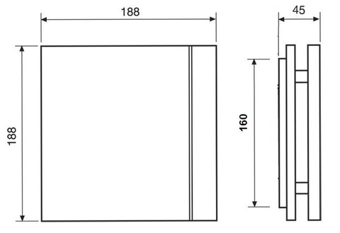 Лицевая панель для вентилятора S&P Silent 100 Design Barcelona