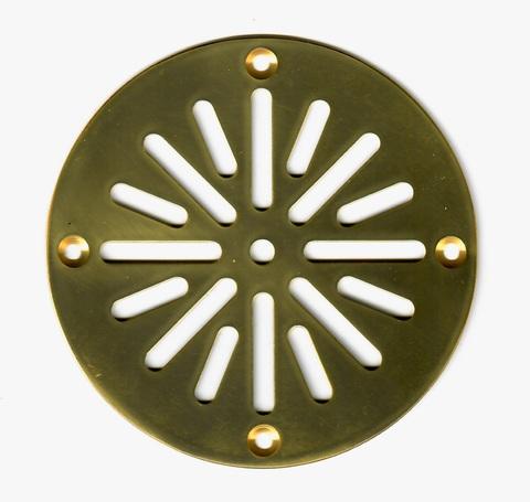 Решётка напольная круглая 100х100 (вариант 2) из латуни