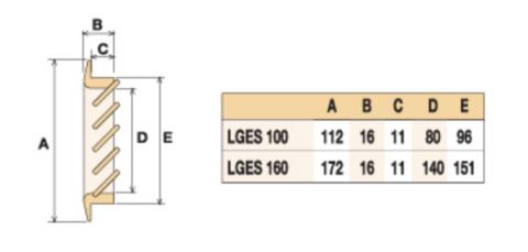 Деревянная решетка First бук 160х160мм LGES160F