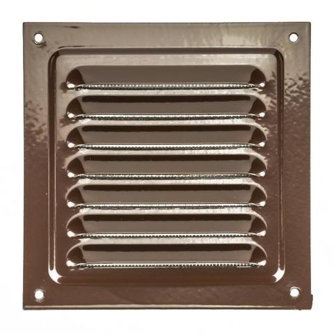Решетка металлическая коричневая 200х200мм 2020МЭ