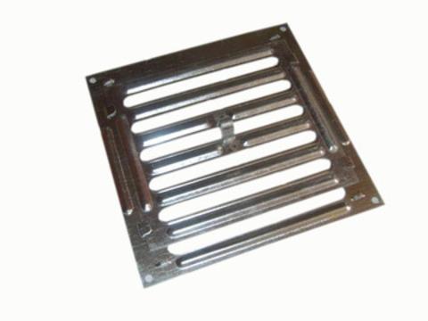 Решетка металлическая жалюзийная 250х250 мм (Р 200)