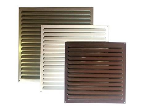 Решетка металлическая коричневая 350х350мм 3535РМк