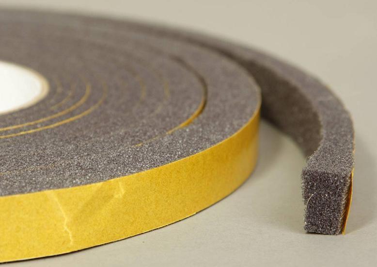 Клейкая лента (скотч), силикон, пена, уплотнитель, утеплитель Лента монтажная, поролон  LU 15х5мм (2м) лента_уплотнительная.jpg
