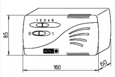Регулятор скорости вращения Helios TSW 0,3 (5-ти ступенчатый)