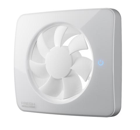 Вентилятор накладной FRESH Intellivent ICE (WiFi управление, таймер, датчик влажности, программируемый, LED-подсветка)