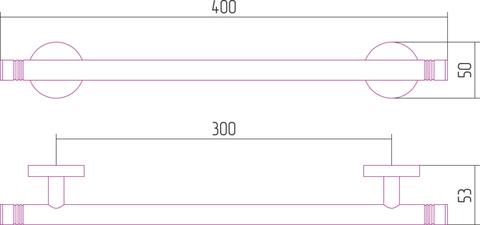 Держатель полотенец КАНЬОН одинарный (L 400)