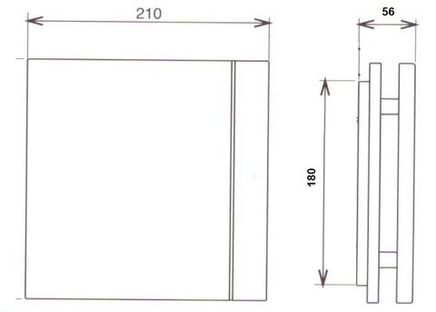 Лицевая панель для вентилятора S&P Silent 200 Design Marble Black