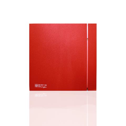 Вентилятор накладной S&P Silent 200 CRZ Design 4C Red (таймер)