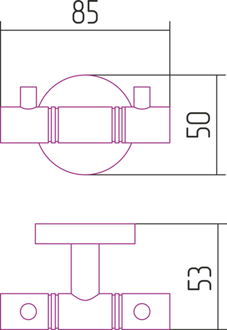 Вешалка КАНЬОН 2 крючка (L 85)