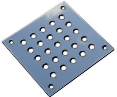 Решётка напольная 100х100 (вариант 1) из нержавеющей стали