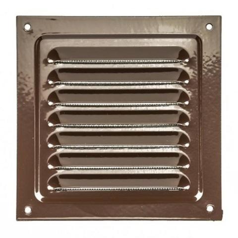 Решетка металлическая коричневая 250х250мм 2525МЭ