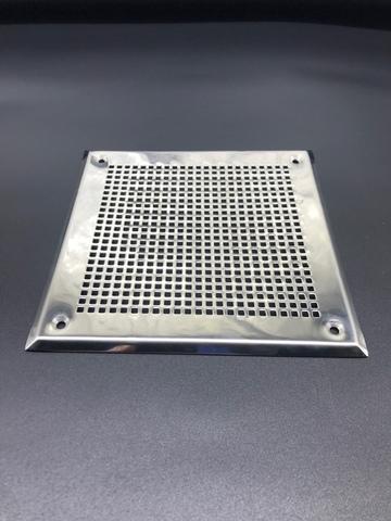 Решётка 100х100 мм, нержавеющая сталь, перфорация мелкий квадрат