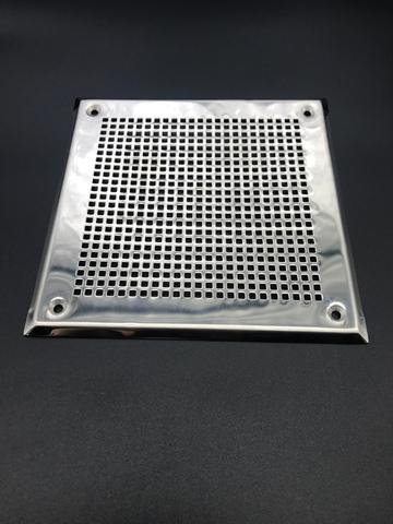 Решётка 100х200 мм, нержавеющая сталь, перфорация мелкий квадрат