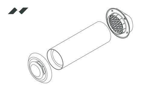 Стеновой клапан ДомВент Norvind Lite