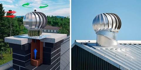 Турбодефлектор крышный ТД 120мм оцинкованный