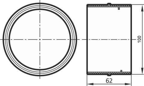 Соединитель-муфта 100 мм пластиковый