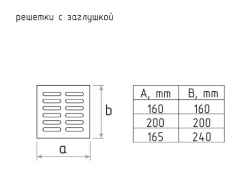 Решетка с заслонкой (заглушкой) 160х160 мм Старая Медь