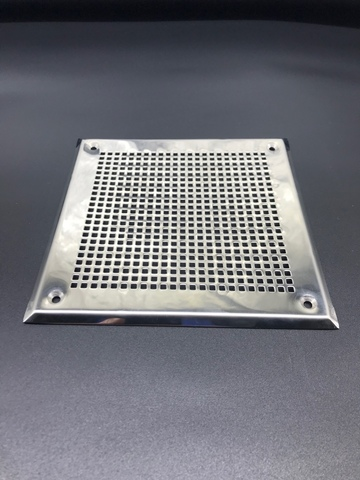 Решётка 210х210 мм, нержавеющая сталь, перфорация мелкий квадрат
