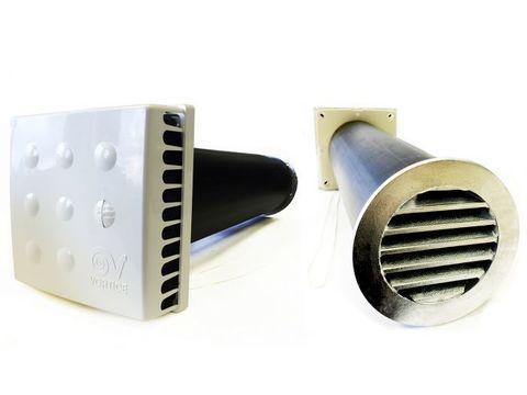 Приточный клапан Vortice KIV Quadro 125 (0,5м) с алюминиевой решеткой