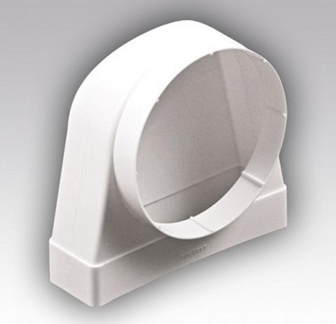 Соединитель угловой 110х55/100 КП под трубу пластиковый