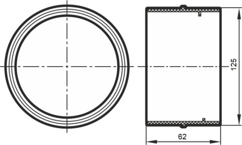 Соединитель-муфта 125 мм пластиковый