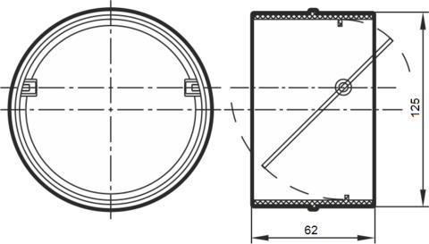 Соединитель-муфта с обратным клапаном 125 мм пластиковый