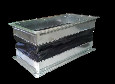 Гибкая вставка 100х115мм с фланцем для вентиляторов OBR 200