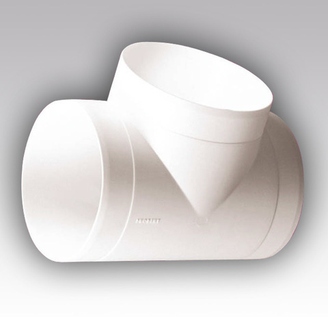 Тройник Т-образный 125 мм пластиковый