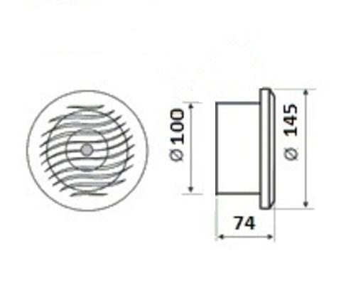 Вентилятор накладной MMotors JSC MM-S 100 жаростойкий (для бань, саун, хамам)