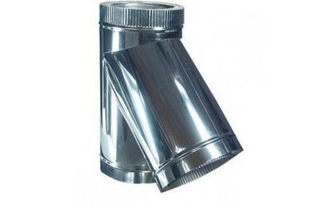 Сэндвич тройник 45° У-образный 130/210 (нерж 0,5 / цинк 0,5)