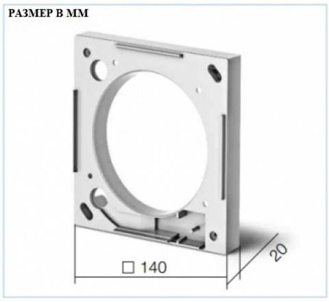 Монтажный фланец для вентиляторов Helios MF100 для вентиляторов М1/100