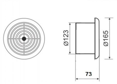 Вентилятор накладной MMotors JSC MM-S 120 жаростойкий (для бань, саун, хамам)