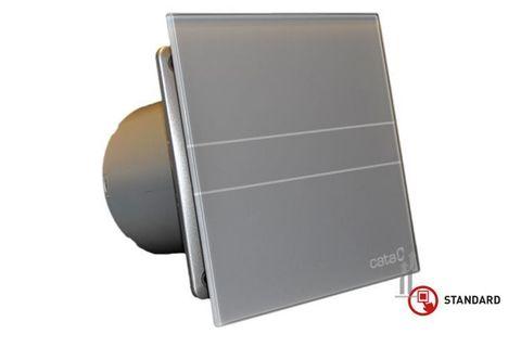 Вентилятор накладной Cata E 100 GS Серебро, с обратным клапаном